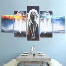 5Pcs Modern Angel Ice&Fire Canvas Print Art Painting Wall Picture Home Decor