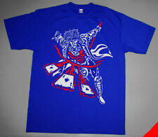 New Gambit Flaming shirt to match air true blue  jordan 3 Red White Royal M-4XL