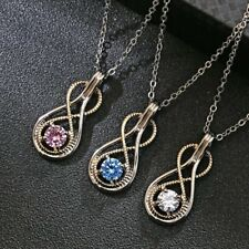 Charm Women Infinity Necklace Pendant Crystal Long Sweater Chain Jewelry Gift