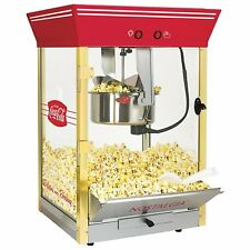 Nostalgia Coca-Cola 8 Ounce Stainless Steel Kettle Home Popcorn Maker Machine