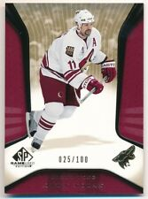 OWEN NOLAN 2006/07 SP GAME USED #78 GOLD PARALLEL COYOTES #025/100 $15