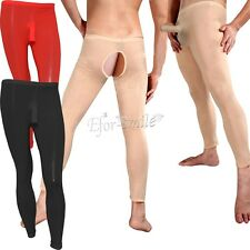 Men's Skin Tights Stockings Penis Pouch Thong Underwear Pantyhose Lingerie Pants