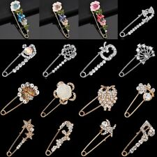 Fashion Crystal Rhinestone Flower Animal Brooches Pins Badge Women Jewelry Gift
