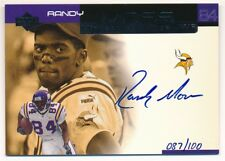 RANDY MOSS 2000 UD UPPER DECK OVATION ON CARD AUTOGRAPH VIKINGS AUTO SP #087/100