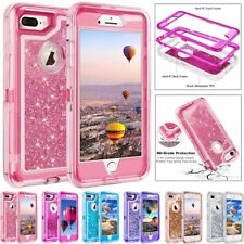 BHY For iPhone Plus Case Glitter 3D Bling Sparkle Flowing Liquid Quicksand Case