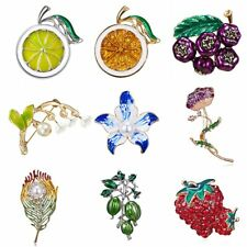 Fashion Enamel Orange Flower Brooches Pins Collar Women Jewelry Party Gift New