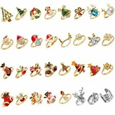 Fashion Christmas Santa Claus Xmas Tree Rings Women Jewelry Party Lovely Gift