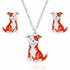 Fashion Lovely Animal Dog Earrings Necklace Women Party Charm Jewelry Set Gift