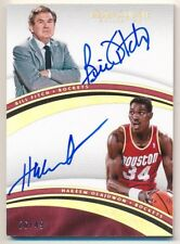 HAKEEM OLAJUWON BILL FITCH 2016/17 IMMACULATE COLLECTION DUAL AUTO SP #/49 $100