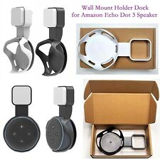 Outlet Wall Mount Hanger Holder Stand Bracket Dock for Amazon Echo Dot 3 Speaker