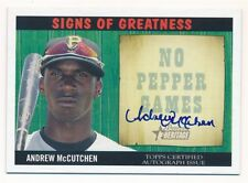 ANDREW MCCUTCHEN 2005 BOWMAN HERITAGE RC SIGNS GREATNESS AUTOGRAPH SP AUTO $50