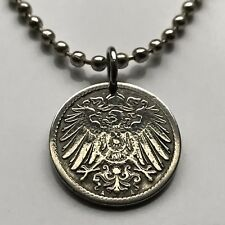 Germany 5 Pfennig coin pendant crown German eagle Deutschland Berlin n000640