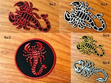 Scorpion Racing Biker Logo Sew/Iron On Patch Embroidered Applique