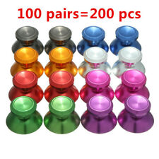 100PAIRS=200PCS Metal Joystick Thumbstick Cap for Sony PS4 Xbox One Controller