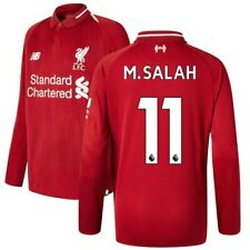 Mohamed Salah Liverpool New Balance Youth 2018/19 Home Replica Long Sleeve