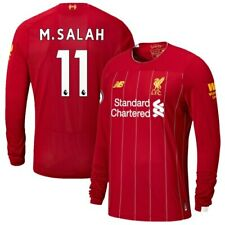 Mohamed Salah Liverpool New Balance Youth 2019/20 Home Replica Player Long