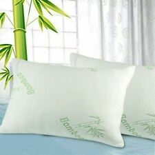 One Luxury Bamboo Memory Foam Pillow Natural Woven Fibres Queen Support 65x45cm