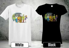 SCOOBY DOO CHARACTER TEAM WHITE&BLACK T-SHIRT USA SIZE S-3XL