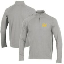 Cal Bears Under Armour Charged Cotton Quarter-Zip Jacket - Heathered Gray