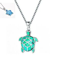 Turtle Charm Woman Necklace Jewelry Fire 925 Fashion Silver Opal Chain Pendant