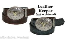 ~KID'S WESTERN BELT~Tooled Leather-Silver Buckle-Cowboy