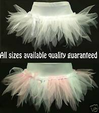 SPIKY TUTU MINI SKIRT LONGER OPT. LENGTH FAIRY ANGEL CLUB DANCE RAVE 80's PARTY