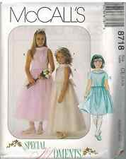 8718 UNCUT McCalls SEWING Pattern Girls Special Moments Dress EASTER PARTY OOP