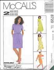 8720 UNCUT McCalls SEWING Pattern Misses Pullover Easy Fitting Dress