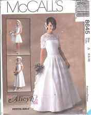 8645 UNCUT McCalls SEWING Pattern Misses Alicyn Excl. Bridal Gown Wedding Dress