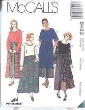 8463 UNCUT McCalls SEWING Pattern Misses Loose Fitting Pullover Dress Casual OOP