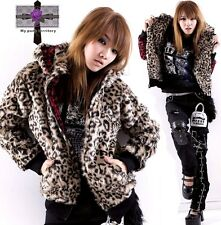 UNISEX Punk Rock Leopard PINK 2 WAY FUR Cheetah EMO Meow Jacket Blazer