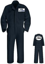 New COVERALLS Custom Printed Personalized Company Name