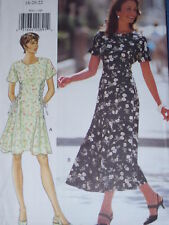 BUTTERICK #3841- LADIES CUTE TWO LENGTH SIDE LACE ~ FLARED DRESS PATTERN  6-22uc