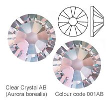 CLEAR CRYSTAL AB (Aurora Borealis coating) SWAROVSKI CRYSTALS FOILED FLAT-BACK