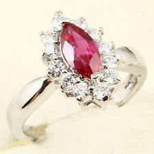 5x7mm MARQUISE CUT RED RUBY RING