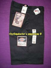 "Dickies Mens 42283 BK 13"" Loose Fit Cell Multi Use Pocket Work Short Black"