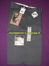 "Dickies Mens 42283 CH 13"" Loose Fit Cell Multi Use Pocket Work Short Charcoal"