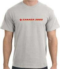 Canada 3000 Vintage Logo Canadian Airline T-Shirt