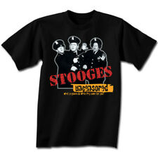 THREE STOOGES Uncensored T-Shirt **NEW 3 Larry Moe Curley