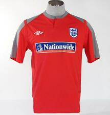 Umbro England National Football Soccer Jersey Red Short Sleeve Boys NWT