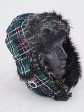 Humor Hut Trapper Hat Green Check One Size