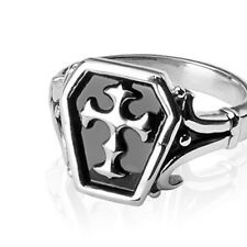 316L Surgical Stainless Steel Men's Fashion Rings W/ Celtic Cross Fr Sz9 ~ Sz14
