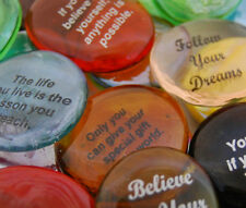 Colored Glass Inspirational Phrase Destiny Imprinted Stones