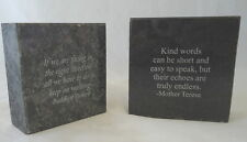 "Small Granite Block Imprinted with Inspirational Quote 3"" L x 3"" H x 1"" D"