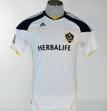 Adidas ClimaLite LA Galaxy Short Sleeve White Soccer Football Jersey Mens NWT
