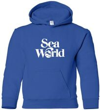 SEAWORLD Hooded Sweatshirt Marine ANIMAL Hoodie 80s COOL WATER HOODY