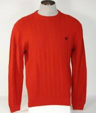 Chaps Crew Neck Red Cotton Knit Sweater Mens NWT