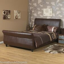 Elegant Barcelona 4ft Small Double Faux Leather Bed FREE NEXT DAY DELIVERY