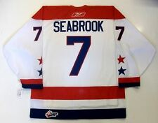 BRENT SEABROOK LETHBRIDGE HURRICANES RBK OHL JUNIOR JERSEY CHICAGO BLACKHAWKS