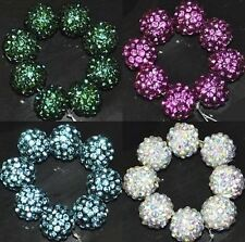 5pcs.10pcs.20pcs.40pcs Crystal Rhinestone Pave Disco Ball Spacer Beads 10mm